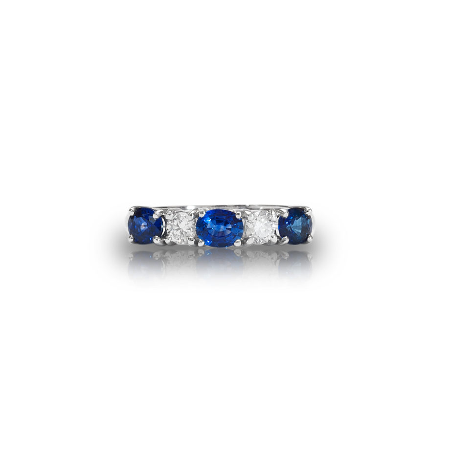 Ruby And Sapphire Eternity Ring