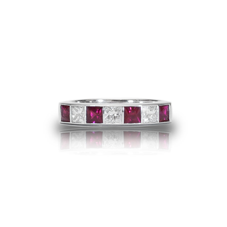 Seven Stone Ruby And Diamond Eternity Ring Honour Amp Co