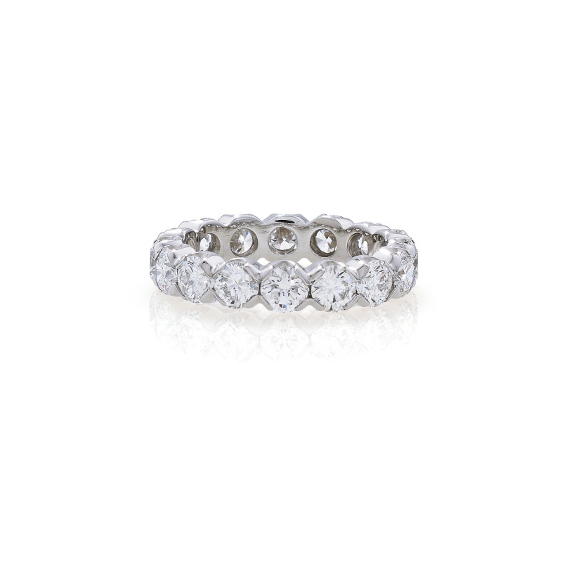 Contemporary style brilliant cut diamond full eternity ring